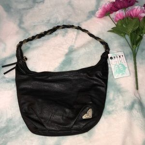 Roxy Girl Leather Shoulder Bag w/ Braided Handle👜
